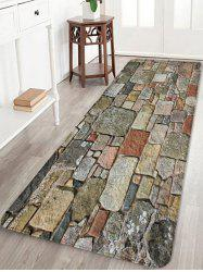 Stones Brick Wall Pattern Water Absorption Area Rug -