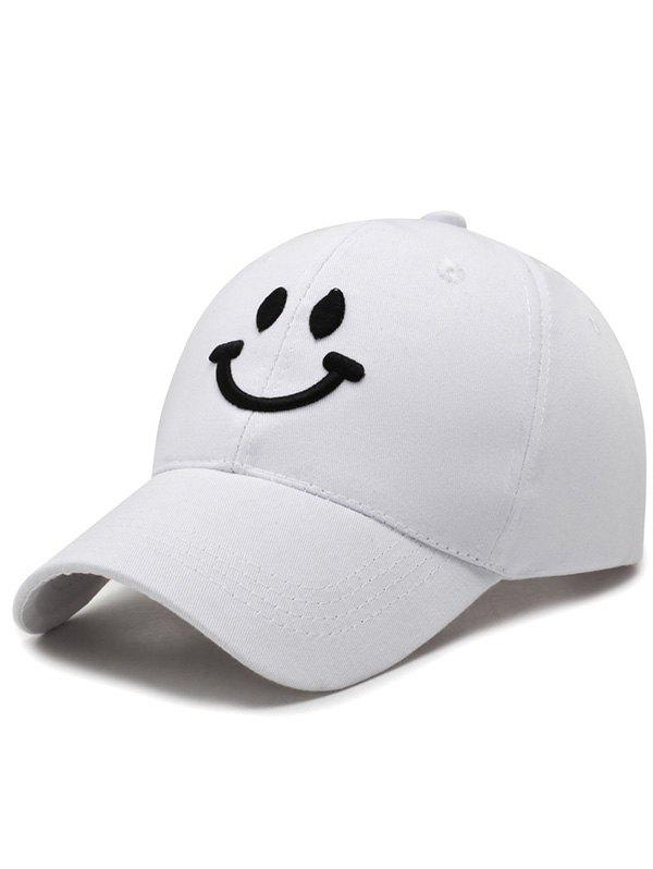 Affordable Smile Face Embroidery Baseball Cap