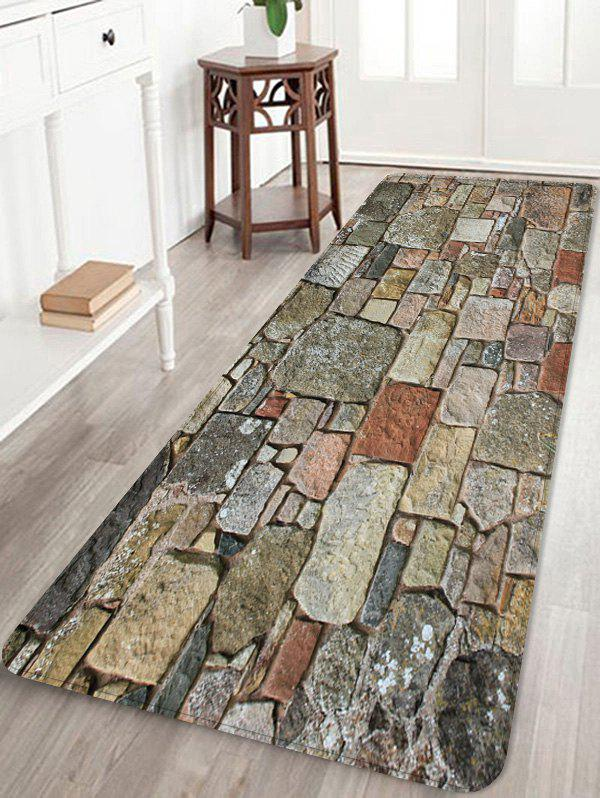 Cheap Stones Brick Wall Pattern Water Absorption Area Rug