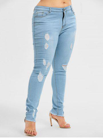 bf84e49fbe Plus Size Distressed jeans
