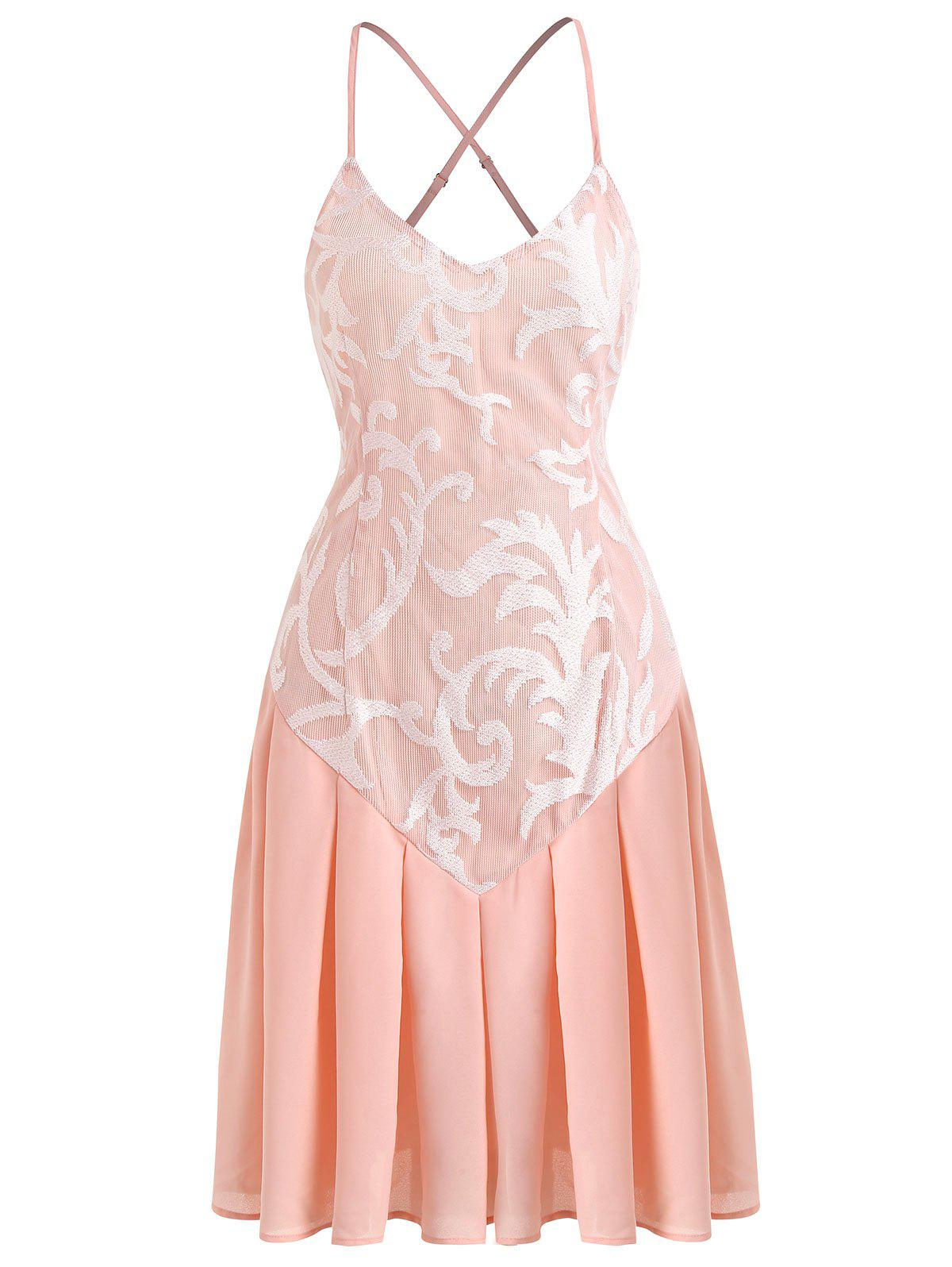 Outfit Cami Lace Panel A Line Dress