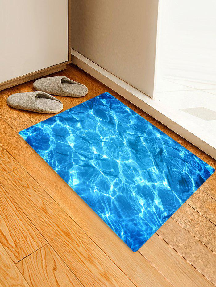 Outfits Lake Wave Pattern Print Floor Mat