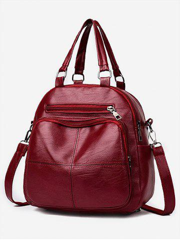 f2442d2332 Solid Color Design PU Backpack