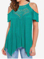 Hollow Out Cold Shoulder Tee -