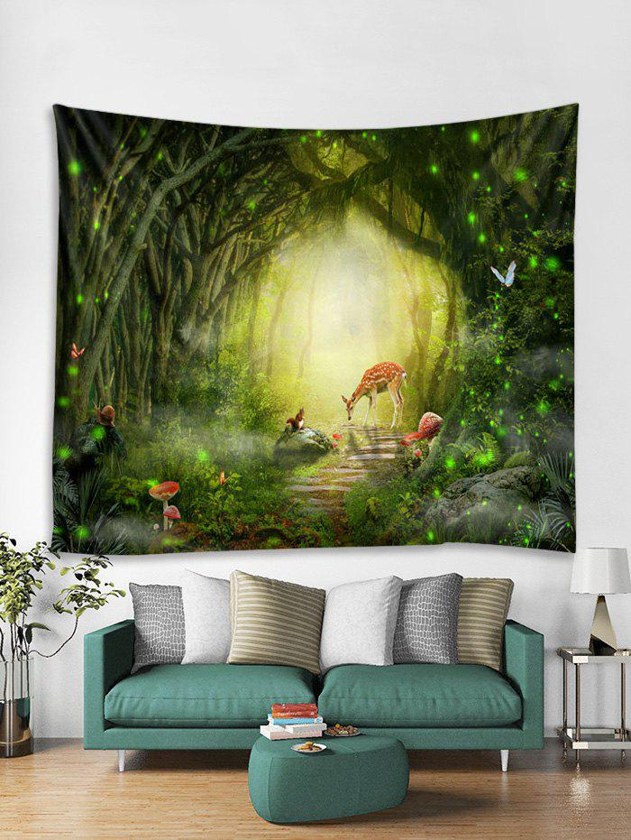 Forest Path Animals Print Tapestry Wall Hanging Art Decoration