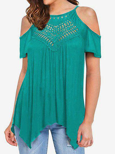 Sale Hollow Out Cold Shoulder Tee