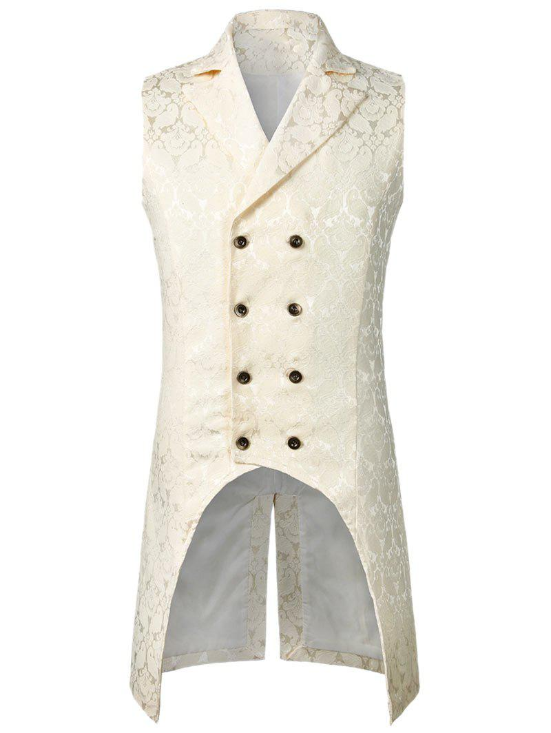 Cheap Double Button Decoration Printed Waistcoat