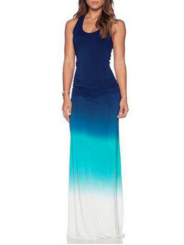 Sleeveless Ombre Maxi Tank Dress