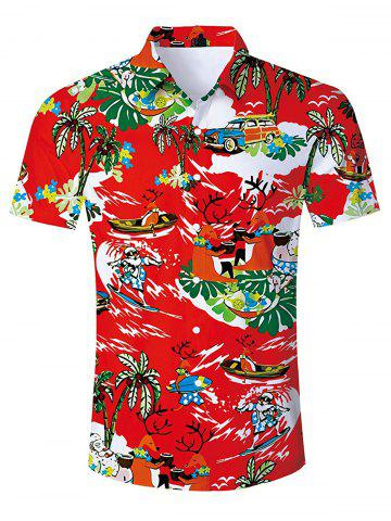 Graphic Printed Short Sleeves Shirt