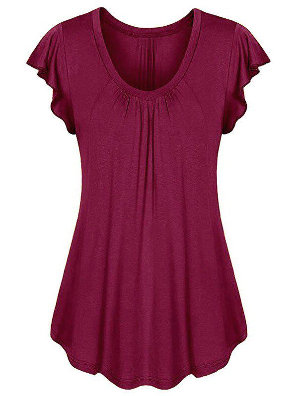 Trendy Ruffle Short Sleeve Tee
