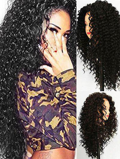 Shop Long Synthetic Jerry Curl Free Part Wig with Lace Front
