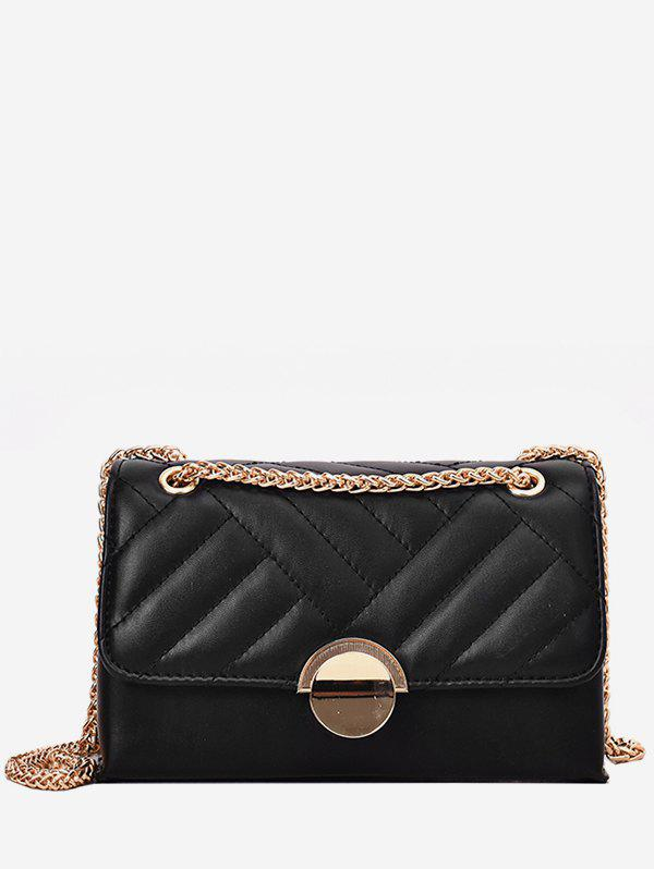 New Round Buckle Quilted Crossbody Bag