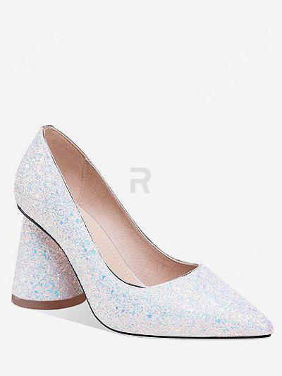 Chic Sequins Decoration Chunky Heel Pumps