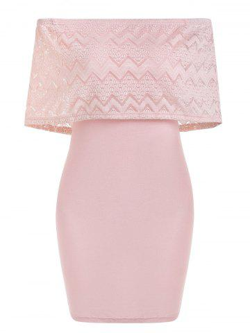 Lace Insert Overlay Bodycon Dress