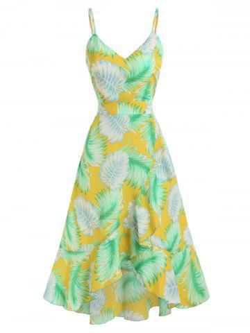 Cami High Low Printed Dress