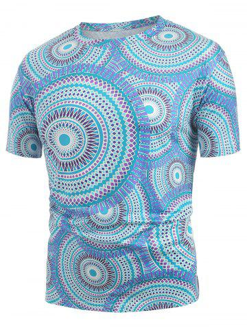 Tribal Printed Short Sleeves T-shirt