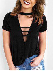 Low Cut Choker T-shirt -