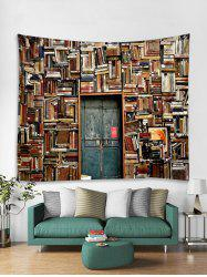Bookshelf House Print Tapestry Wall Hanging Art Decoration -