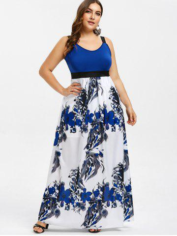 e1373b8e5d1 Plus Size Sleeveless Floral Print Maxi Dress