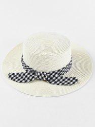 Bowknot Design Straw Woven Hat -