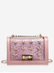 Faux Pearl Star Design Crossbody Bag -