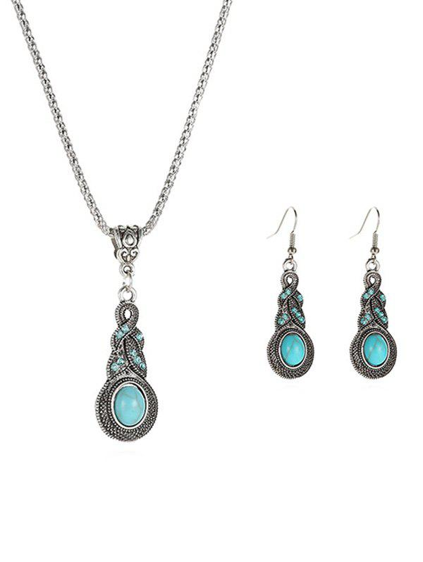 Alloy Faux Turquoise Jewelry Sets