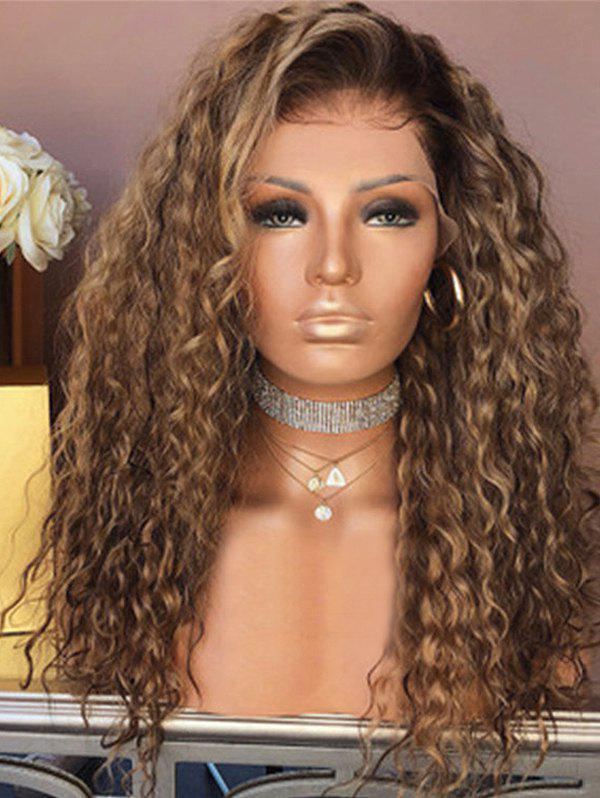 Best Jerry Curly Long Center Part Synthetic Wig with Front Lace
