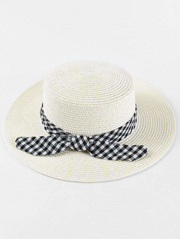 Shop Bowknot Design Straw Woven Hat