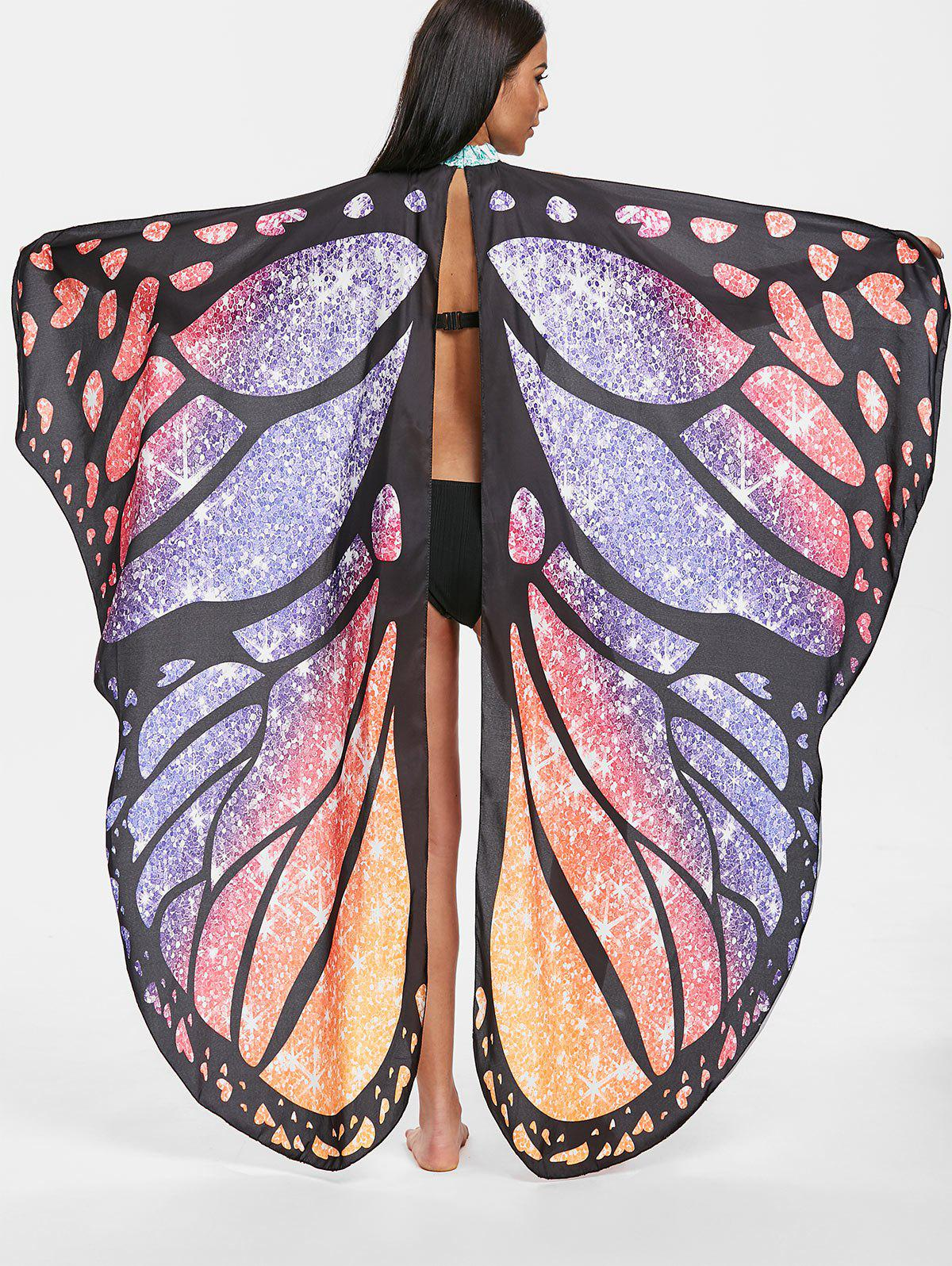 Butterfly Wing Beach Cover Up Multi Taille Unique