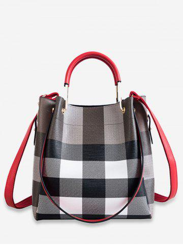 8e03abb902 Plaid Style Shoulder Bags Set