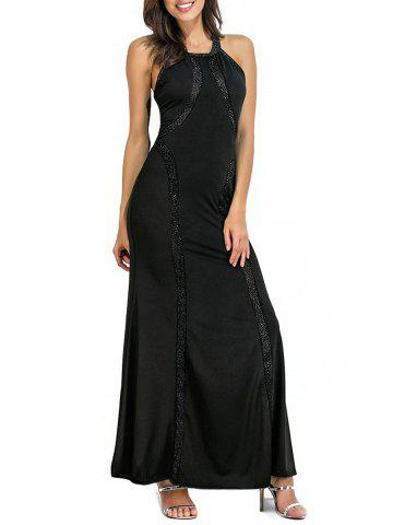 Round Neck Sparkly Maxi Dress