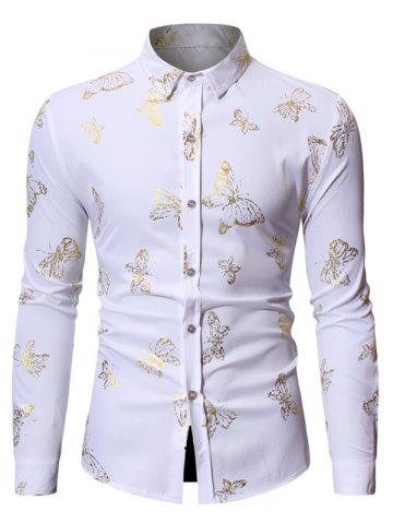 Butterfly Printed Long Sleeves Shirt
