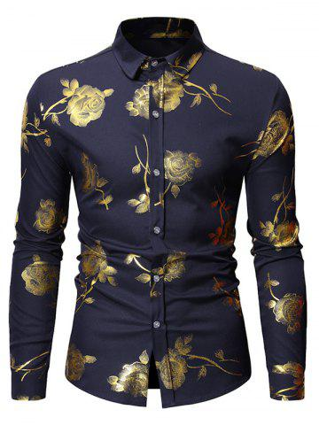Rose Printed Long Sleeves Shirt