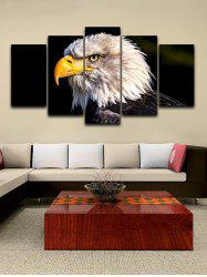 Eagle Print Unframed Split Canvas Paintings -