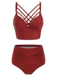 Criss Cross High Waist Bikini Set -