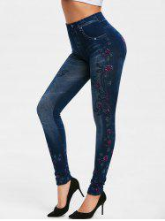 Fitted Floral Print Pants -
