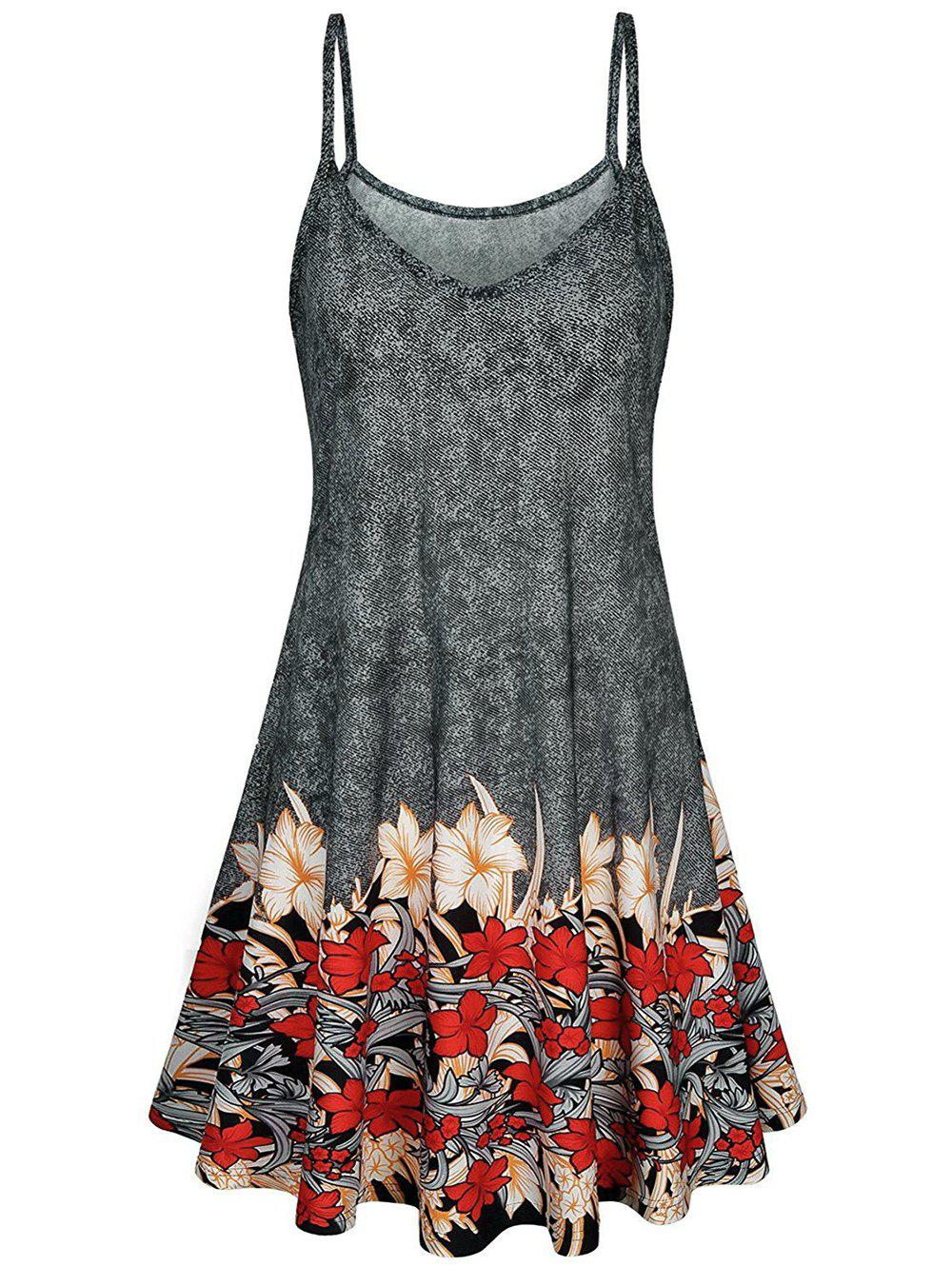 Floral Printed Mini A Line Dress фото
