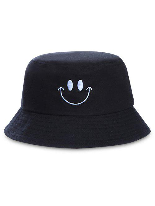 Cheap Smile Face Embroidery Bucket Hat