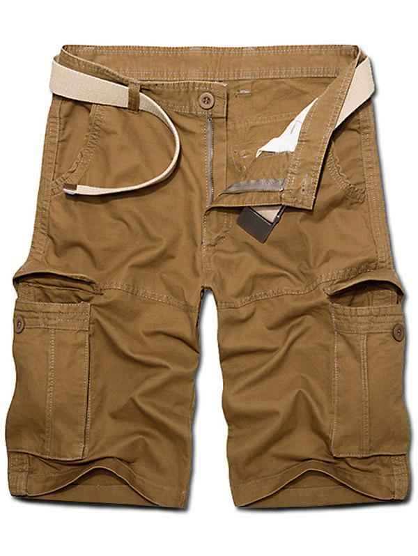 Trendy Pockets Button Fly Cargo Shorts