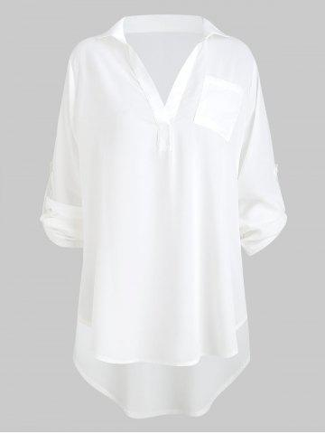 High Low Pocket Blouse