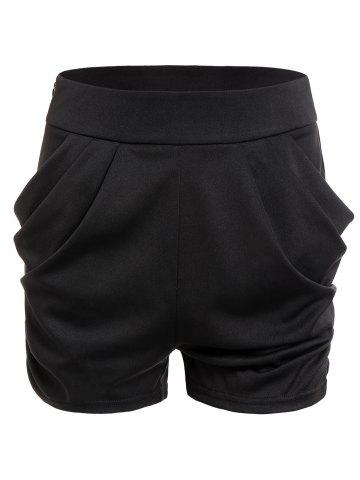 Zippered Solid Shorts