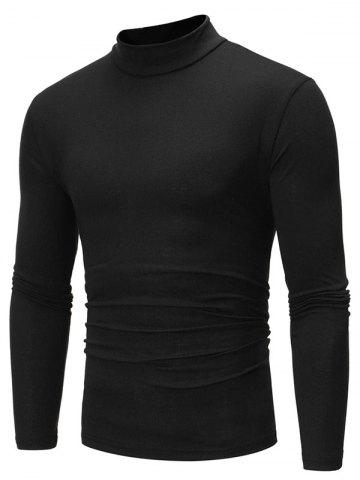 Pure Color Long Sleeves Slim Fit T-shirt