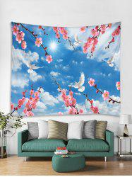 Swallow Flowers Tapestry Art Decoration -