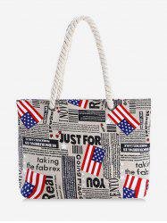 the Stars and Stripes Pattern Canvas Tote -