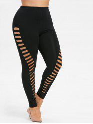 Ripped Plus Size Leggings -