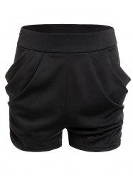 Zippered Solid Shorts -