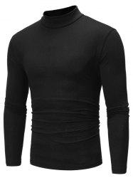 Pure Color Long Sleeves Slim Fit T-shirt -