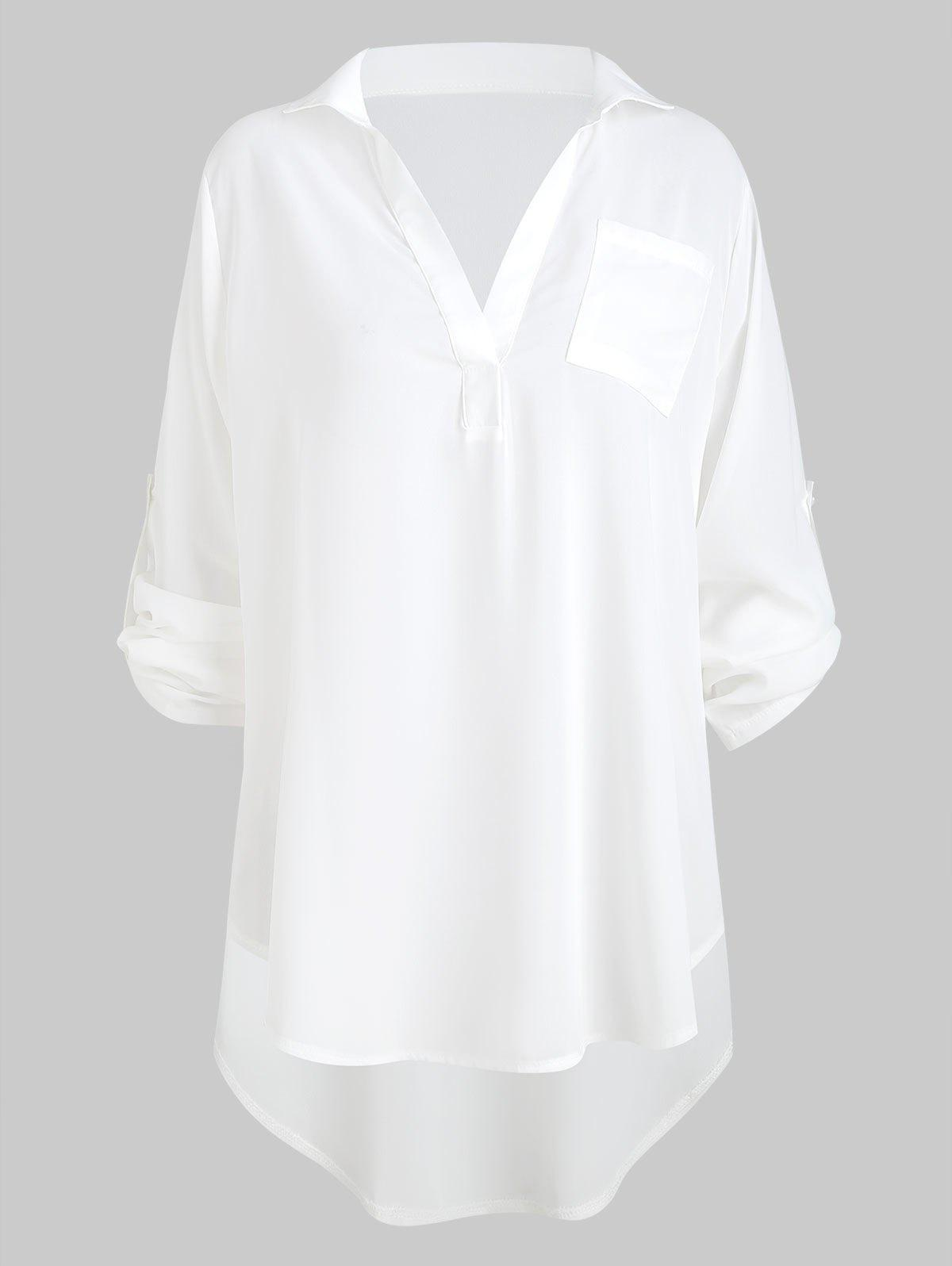 New High Low Pocket Blouse