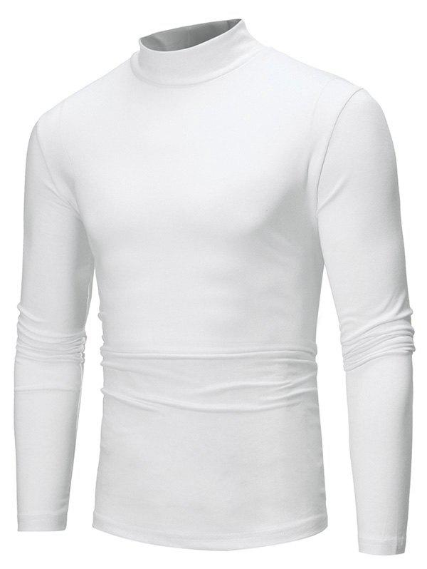 Hot Pure Color Long Sleeves Slim Fit T-shirt