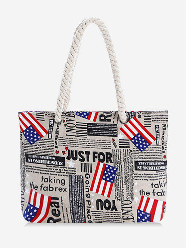 Fancy the Stars and Stripes Pattern Canvas Tote